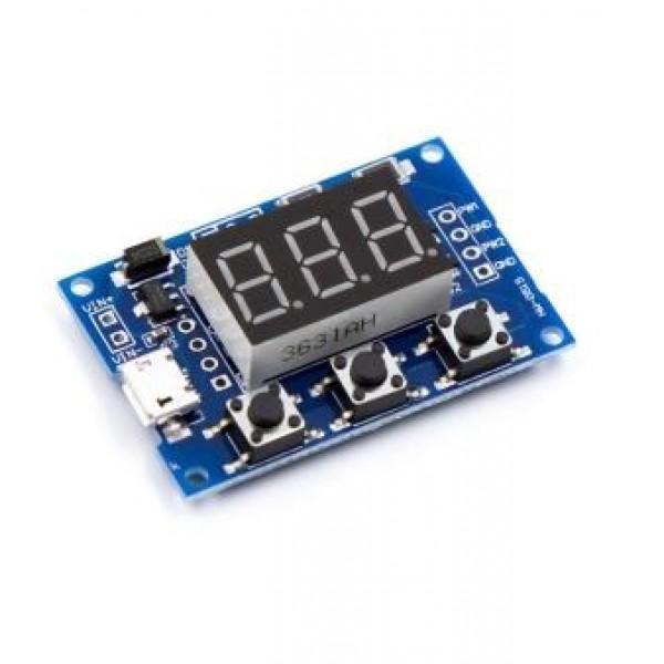 Ετοιμα κυκλωματα - 2 Channel PWM Pulse Frequency Adjustable Duty Cycle Square Wave Rectangular Wave Signal Generator Module