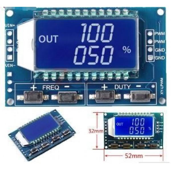 Ετοιμα κυκλωματα - XY-LPWM Signal Generator PWM Pulse Frequency Duty Cycle Adjustable Module LCD Display 1Hz- 150Khz 3.3V-30V PWM Board Module