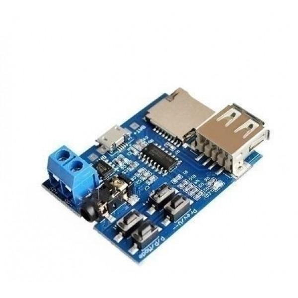 Ετοιμα κυκλωματα - MP3 Nondestructive Decoding Board with Self-Powered TF Card U Dist Decoded Player