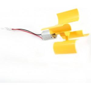 Ετοιμα κυκλωματα - DIY Kit SMALL MOTOR VERTICAL WIND TURBINES BLADES BREEZE ELECTRICITY GENERATOR