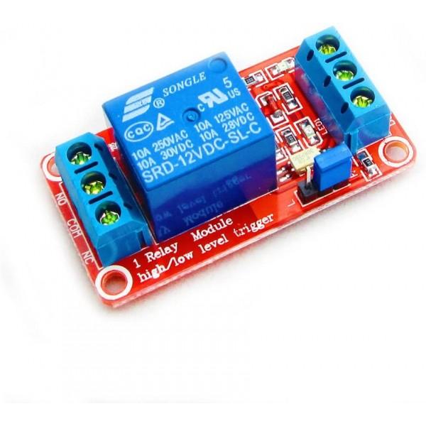 Ετοιμα κυκλωματα - 1 CHANNEL 12V RELAY MODULE WITH LED
