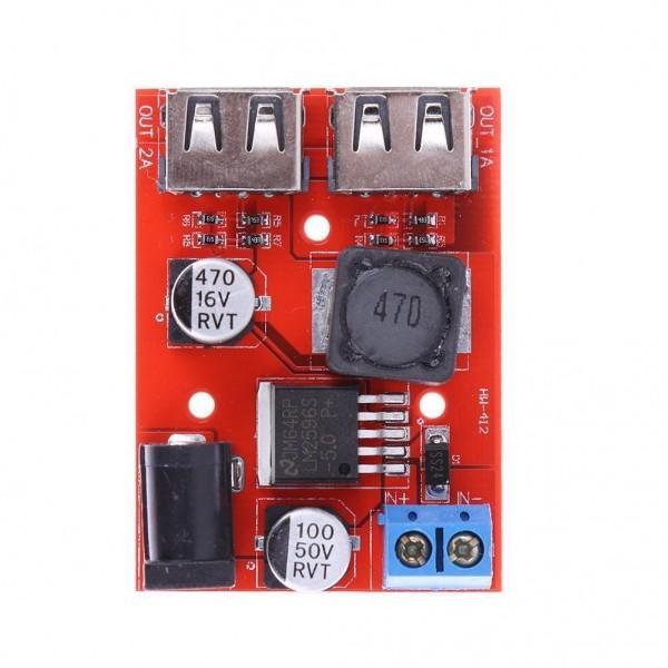 Ετοιμα κυκλωματα - STEP DOWN 2 OUT USB 5V/3A IN 9/12/24V